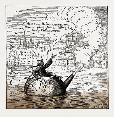 Oh  Law They Are Coming Over In Their Own Tea-pots Now Art Print by Litz Collection