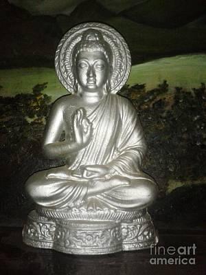 Oh Lord Buddha  Art Print by Artist Nandika  Dutt