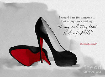 Paris Mixed Media - Oh My God Louboutin by Rebecca Jenkins