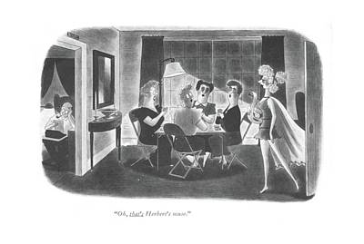 Pretty Girls Drawing - Oh, That's Herbert's Muse by Richard Taylor