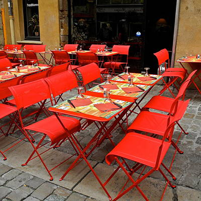 Art Print featuring the photograph Oh Those French Cafes by Kirsten Giving