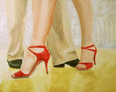 Oh Those Red Shoes Art Print