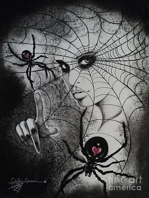 Drawing - Oh What Tangled Webs We Weave by Carla Carson