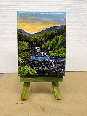 Painting - Oheo Gulch Seven Sacred Pools by Darice Machel McGuire