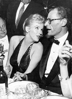 Marilyn Photograph - Marilyn Monroe And Arthur Miller by Retro Images Archive