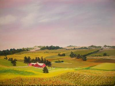 Pastel - Ohio Amish Farm by Dan Haley