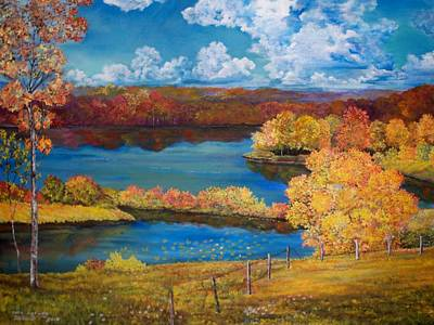Painting - Ohio Autumn by Dave Farrow