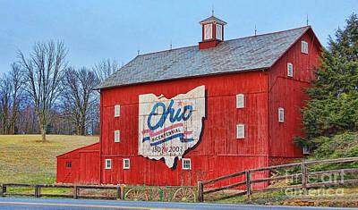 Bicentennial Photograph - Ohio Bicentennial Barn by Jack Schultz