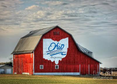 Bicentennial Photograph - Ohio Bicentennial Barn -van Wert County by Pamela Baker