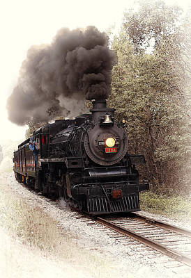 Locomotive Photograph - Ohio Central by Marcia Colelli