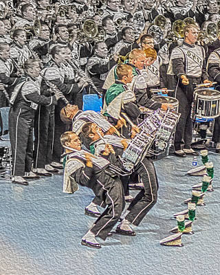 Spats Photograph - Ohio Drum Line by Tom Gari Gallery-Three-Photography