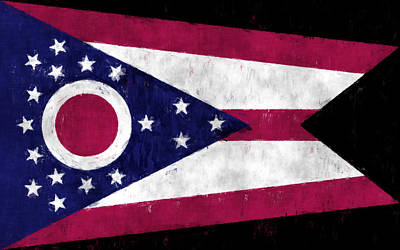 Ohio Flag Art Print by World Art Prints And Designs