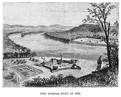 Ohio Painting - Ohio Fort Harmar, 1785 by Granger