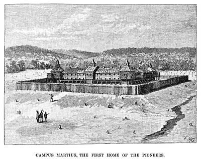 Ohio Painting - Ohio Fort Marietta by Granger