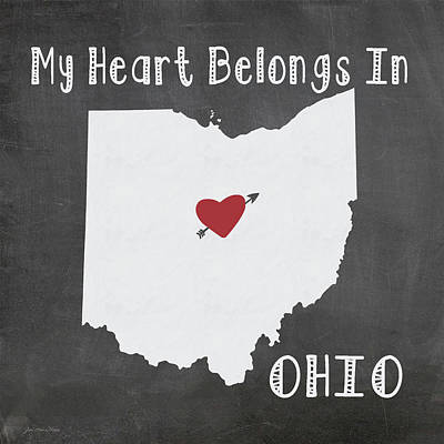 Ohio Art Print by Jo Moulton
