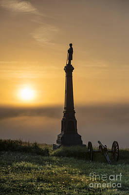 Ohio Monument At Cemetery Hill Gettysburg Art Print by John Greim