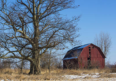 Photograph - Ohio Red Barn by Kathleen Scanlan