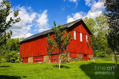 Photograph - Ohio Red Barn by Rick Bragan