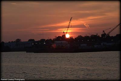 Ohio River Sunset 2 Original by Daniel Jakus
