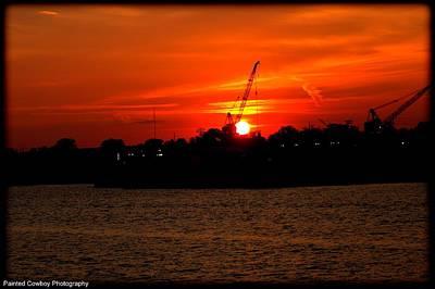 Ohio River Sunset Original by Daniel Jakus