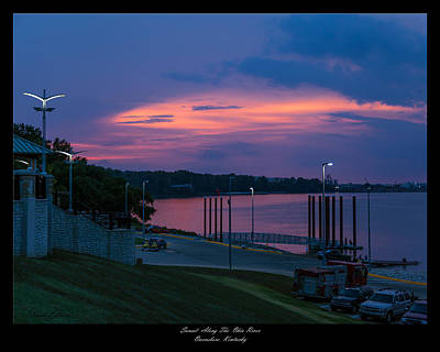 Ohio River Sunset Art Print