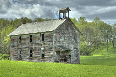 Photograph - Ohio Schoolhouse by Jack R Perry