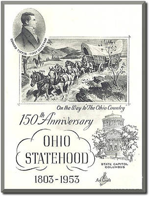 Ohio Sesquicentennial Poster Art Print by Charles Robinson