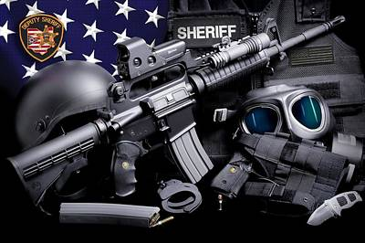 Summit County Photograph - Ohio Sheriff Tactical by Gary Yost
