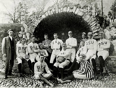 Football Photograph - Ohio State Football Circa 1890 by Jon Neidert