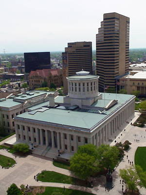 Ohio Statehouse Art Print by Sanford
