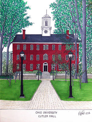 Drawing - Ohio University by Frederic Kohli