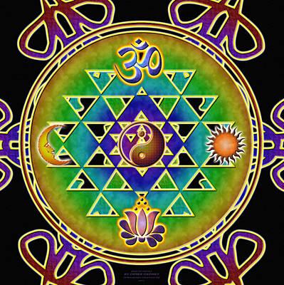 Digital Art - Ohm Sri Yantra by Derek Gedney