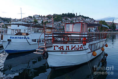 Photograph - Ohrid Harbour - Macedonia by Phil Banks