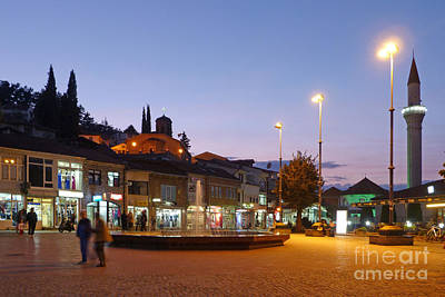 Photograph - Ohrid Town At Dusk by Phil Banks