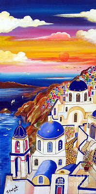 Oia Santorini Greece Art Print