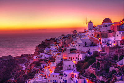 Oia Sunset Art Print