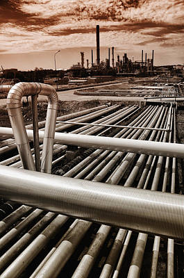 Oil And Gas Industry Art Print by Christian Lagereek