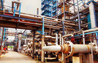 Oil And Gas Refinery Engineering And Technology Art Print