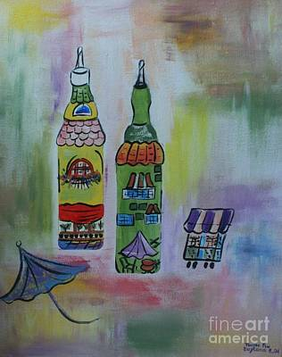 Cookbook Painting - Oil And Vinegar by PainterArtist FIN