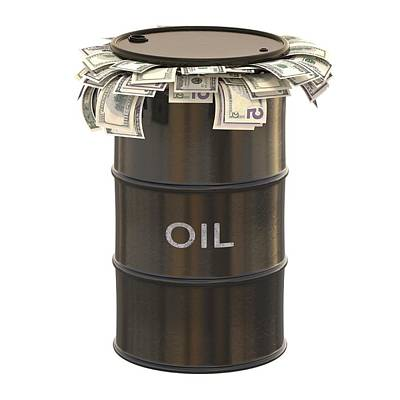 Expensive Photograph - Oil Barrel With Us Dollars by Ktsdesign