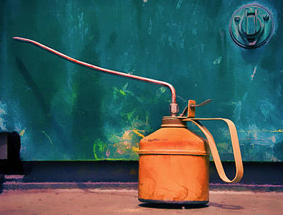 Photograph - Oil Can On The Engine by Gary Slawsky