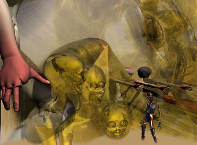 Digital Art - Oil Child Abduction To Pleiades #49_hr by Stephen Donoho
