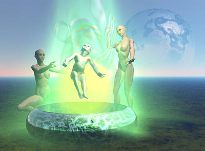 Digital Art - Oil Child- Abduction To Tori Located In Pleiades by Stephen Donoho