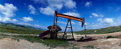 Taft Photograph - Oil Drill On A Landscape, Taft, Kern by Panoramic Images