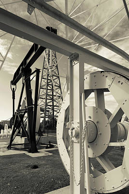 Machinery Photograph - Oil Drilling Display At Oklahoma by Panoramic Images