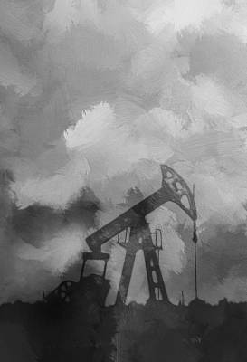 Lone Star State Painting - Oil Field by Steve K