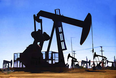 Photograph - Oil Fields by Chuck Staley