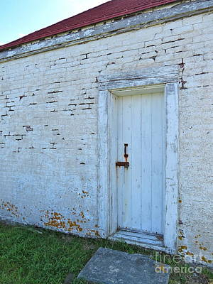 Photograph - Oil House Door  by Nancy Patterson