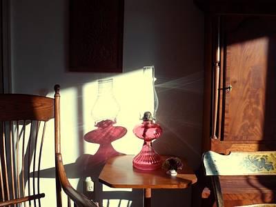 Oil Lamp Reflections Art Print by Gordon Maull