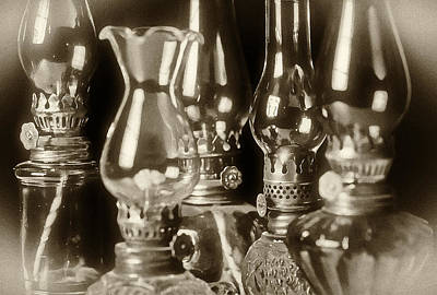 Oil Lamp Photograph - Oil Lamps by Patrick M Lynch